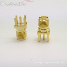 SMA female pcb mount standing RF connector m12